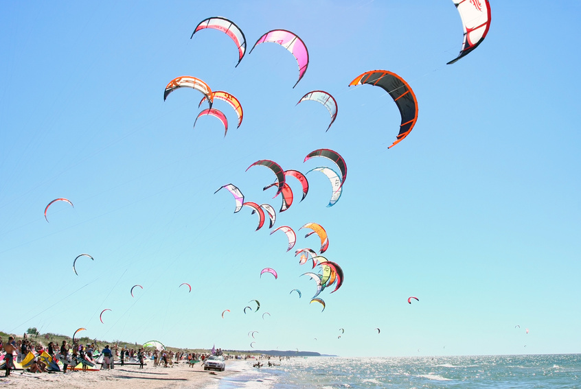 Kiteboarding competition
